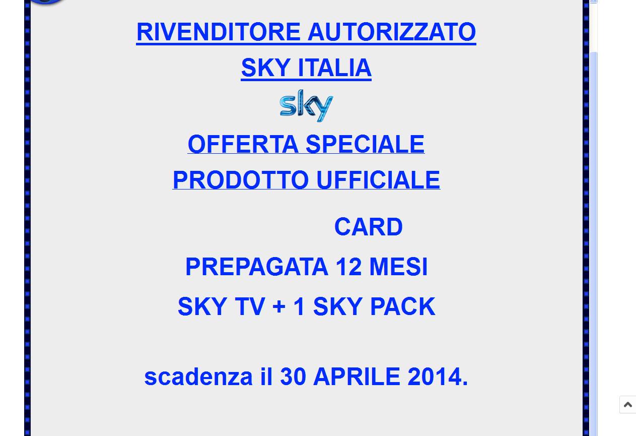 CARD PREATTIVATA SPACCIATA PER CARD 12/13 MESI