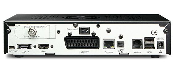 Pannello-posteriore DreamBox DM800se HD