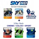 Sky Italia Subscription SkyTV+Famiglia+Calcio+Sport+Cinema+FOX Sports+Premiere League 12/13 Months